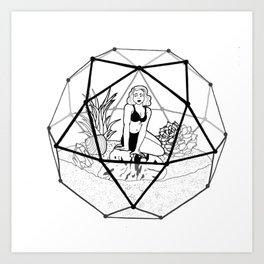 Terrarium Queen Art Print