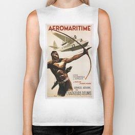 Vintage poster - Aeromaritime Biker Tank
