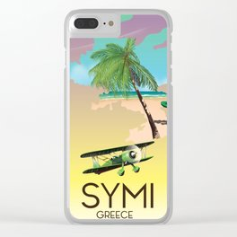 Symi Greece travel poster Clear iPhone Case