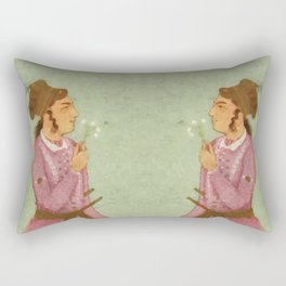 Akbar - Mughal Emperor Folk Hero Rectangular Pillow