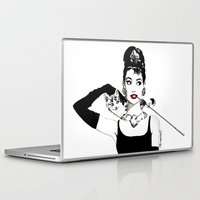 audrey Laptop & iPad Skins featuring Audrey by Clementine Petrova