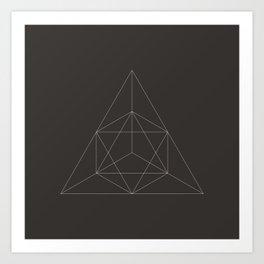 Geometric Dark Art Print
