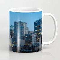 toronto Mugs featuring Toronto by Michael Linnik