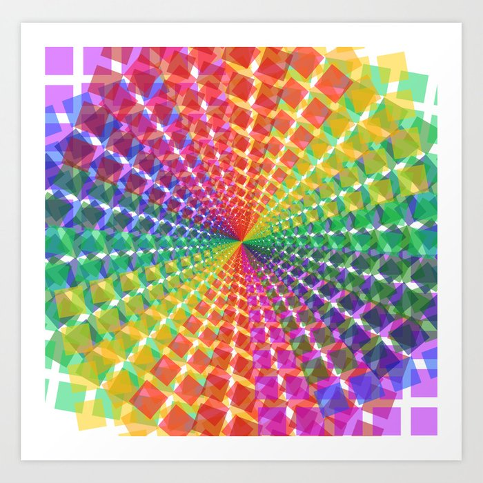 Colorful Christmas.Colorful Mosaic Pattern Design Artwork Colorful Christmas Gifts Pixel Art Art Print By Shawlinmohd