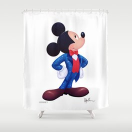 """""""Gala Mickey Mouse"""" by Dylan Bonner Shower Curtain"""