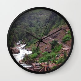 Alpine Bridge Adventure Wall Clock
