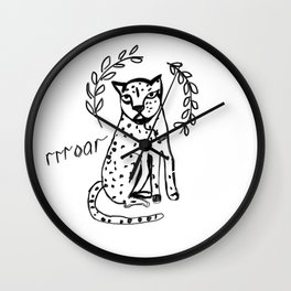 charismatic leopard Wall Clock