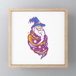 Wizard Tornado Mascot Framed Mini Art Print