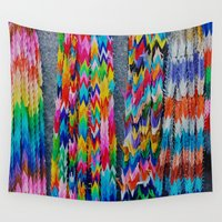 origami Wall Tapestries featuring Origami by Sushibird