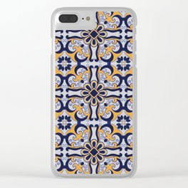 Portuguese tile Clear iPhone Case