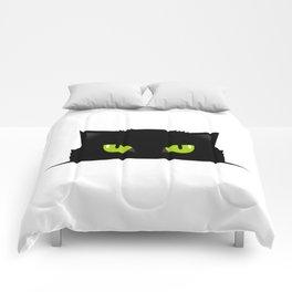 Black cat follow you #society6 #decor #buyart #artprint Comforters