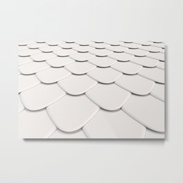 Pattern of white rounded roof tiles Metal Print