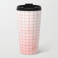 Sweet Pink Geometry Metal Travel Mug
