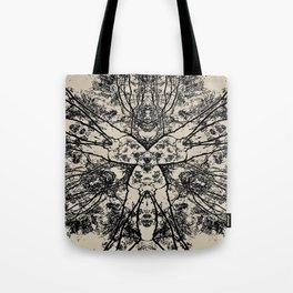 Black Flora No 1 Tote Bag