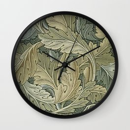 Acanthus Tan Wall Clock