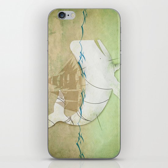 The ghost of Captain Ahab  iPhone & iPod Skin