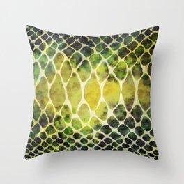 Cobra Snake Skin Pattern Throw Pillow