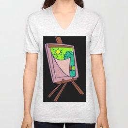 Painting Veil Canvas Unisex V-Neck