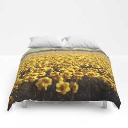 Narcissus field #2 Comforters