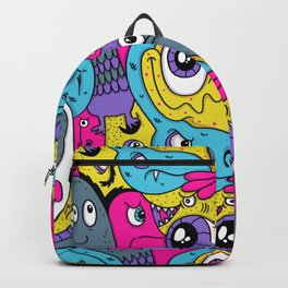 Idiot Bird Pattern Backpack