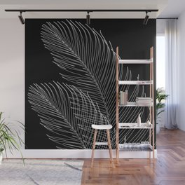 Palm Leaves Finesse Line Art #2 #minimal #decor #art #society6 Wall Mural