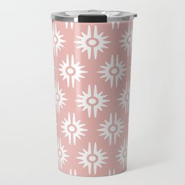 Mid Century Modern Bang Pattern 271 Dust Rose Travel Mug