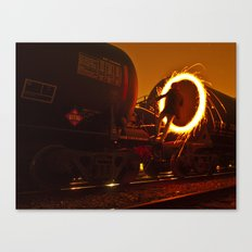 HIGHLY COMBUSTIBLE Canvas Print