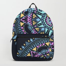 Blue Bohohemian Pattern Backpack