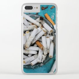 Cigarette Butts Clear iPhone Case