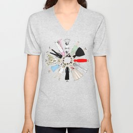 Audrey Hepburn Fashion (Scattered) Unisex V-Neck