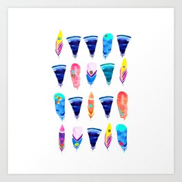 Candy Feather Art Print