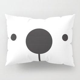 Black & White Minimalist Bear Concept Pillow Sham