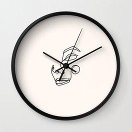 Minimalist femme, pearl Wall Clock