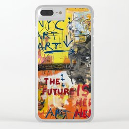 NYC Art Art Clear iPhone Case