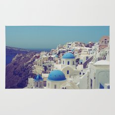 Blue Domes II, Oia, Santorini, Greece Rug