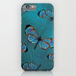 GlassWinged Greta Oto butterflies iPhone Case
