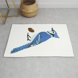 Football Blue Jay Rug