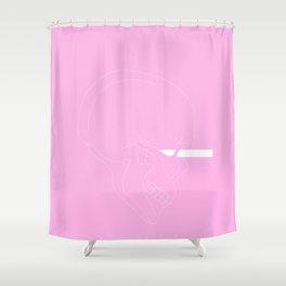 LINE #Skull (Pink) Shower Curtain