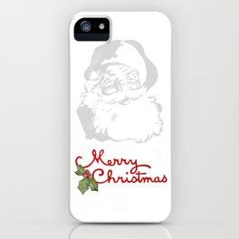 Jolly Santa Merry Christmas iPhone Case