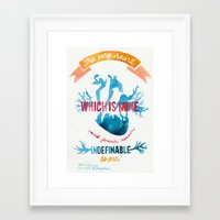 camus Framed Art Prints featuring ALBERT CAMUS QUOTE//THE MYTH OF SISYPHUS  by Connie Cann