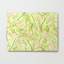 Pastel Jungle Metal Print