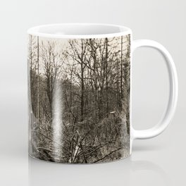 Fallen And Broken Trees After Storm Victoria February 2020 Möhne Forest 5 sepia Coffee Mug