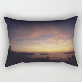 PUGET SOUND AND THE SAN JUAN ISLANDS AT SUNSET, SEEN FROM OVERLOOK AT LARRABEE STATE PARK NARA Rectangular Pillow