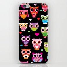 Owl cuteness colorful bird pattern parade iPhone & iPod Skin