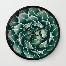 Succulent bloom II Wall Clock