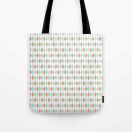 Harlequin Print in Candy Coated Tote Bag