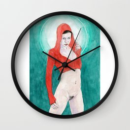 Little Red Madonna Wall Clock