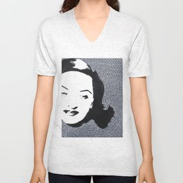 Bette Davis All About Eve American Film Fasten your seat belts hollywood star Unisex V-Neck