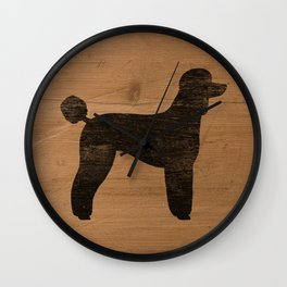 Standard Poodle Silhouette(s) Wall Clock