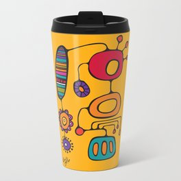 Feather Flower Chime in Color Metal Travel Mug